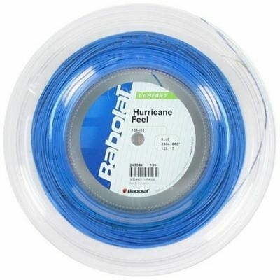 BABOLAT Hurricane Feel Tennis String REEL 1.25mm 17 Gauge 200m Blue Strings