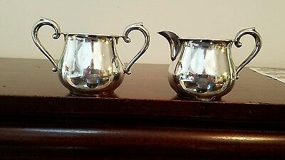 Nice Sterling Sugar Bowl & Creamer Set  #68, around 167 grams