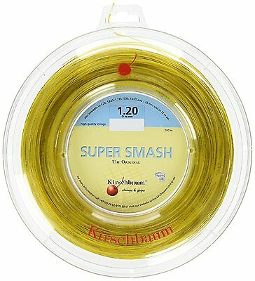 KIRSCHBAUM Super Smash Tennis String REEL 1.20mm Gauge 200m Racquet