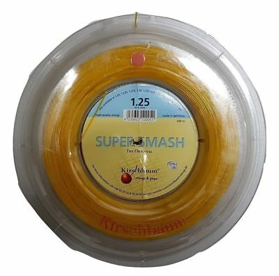 KIRSCHBAUM Super Smash Tennis String REEL 1.25mm Gauge 200m Racquet