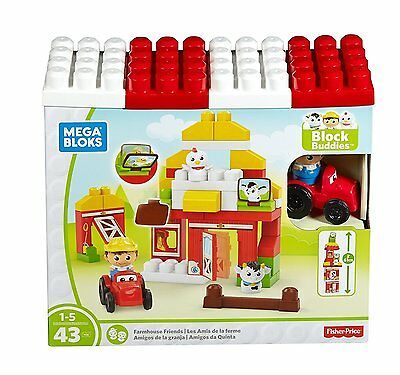 Mega Bloks - Farmhouse Friends Building Set Fisher Price DPJ57 NEW