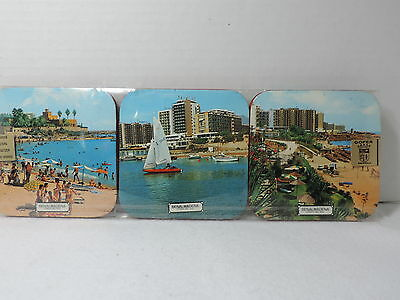 Gofer Espanola Vintage Costa Del Sol Drink Coaster Set