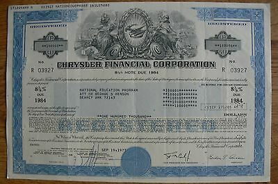 (2) TWO Chrysler FC Auto Stock Certificate (s)!! High Denominations! Very Nice!!