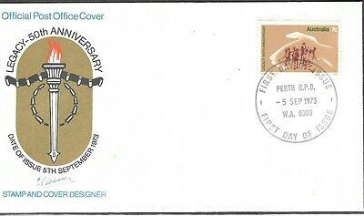 Australia Decimal 1973 '50th Anniversary of Legacy' AP First Day Cover