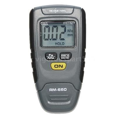 RM660 Digital Paint Coating Thickness Gauge Tester 0-1.25mm with Iron Base US