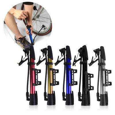 Inflator Bike Pump Aluminum Alloy Mini Portable Cycling Bicycle Tire Pump TM