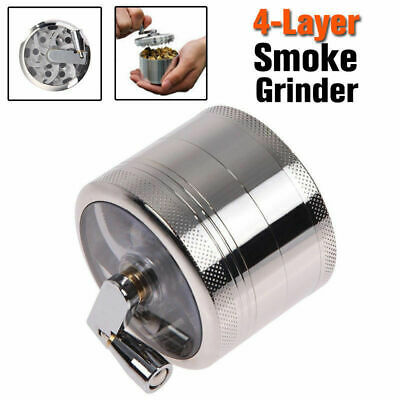 4-layer Smoke Grinder Aluminum Herb Tobacco Grinders Hand Crank Herbal AU Stock