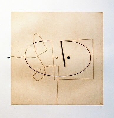 Victor Pasmore (1908-1998) Pencil Signed Etching & Aquatint 1975 Limited Ed