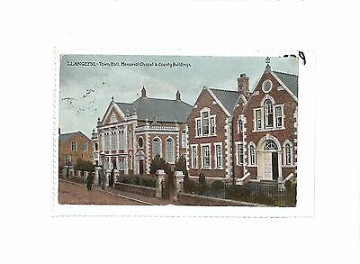 GB Wales Llangefni Anglesey Town Hall Memorial Chapel & Country Buildings 1908