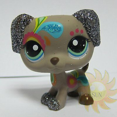 Littlest Pet Shop LPS Animal Loose Toy #2344 Tattoo Dalmatian Dog Glitter Puppy