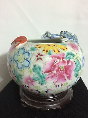 Antique Chinese Porcelain Brushwasher, Dragon & Bat
