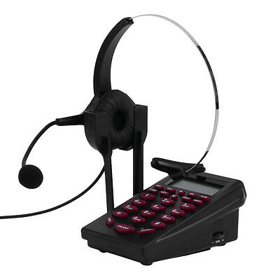 Business Call Center Dialpad Headset Telephone with Tone Dial Key Pad & REDITO