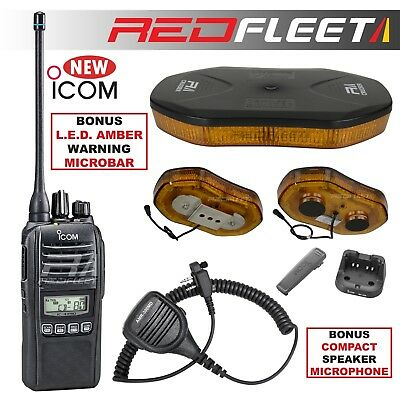ICOM IC-41PRO IC-41W 5W UHF CB Radio + Genuine HM-158LA Black Speaker Mic Mike