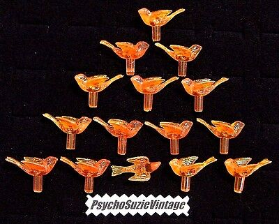 30 ORANGE MEDiUM DOVE BiRD LiGHT PEG TWiST ViNTAGE CERAMiC CHRiSTMAS TREE BULB