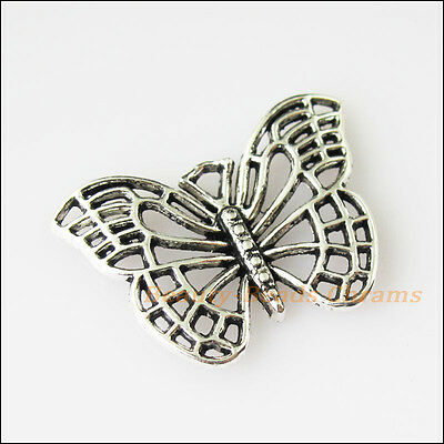 12 New Hollow Animal Butterfly Tibetan Silver Tone Charms Pendants 18x25mm