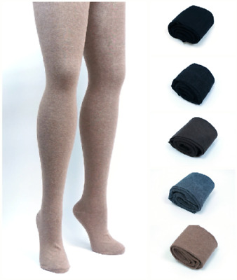 ff218e35e PLUS SIZE Womens 80% Cashmere Wool Opaque Knit Thick Tights