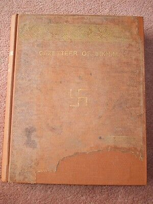 Extremely Rare Antique Indian Asian Book Sikhim Sikkim Bengal Pubd Calcutta 1894