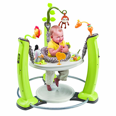 Evenflo ExerSaucer Jump And Learn Jumper Baby Activity Center Jungle Quest New