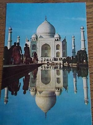 Vintage Indian colour Postcard TAJ MAHAL AGRA INDIA 1970s by VT 70s