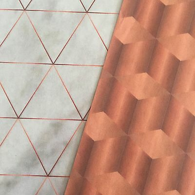 Industrial Copper Linear Modern Decoupage Paper -  Simple Creative Deco Papers