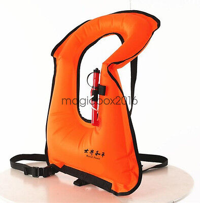 Snorkel Vest Inflatable Adult Snorkelling Jacket for Dive Safety Water Safety