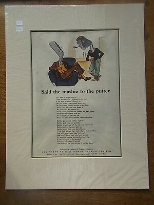 Vintage c1940 Advert NORTH BRITISH RUBBER CO LTD  Golf Balls Mashie Putter Poem