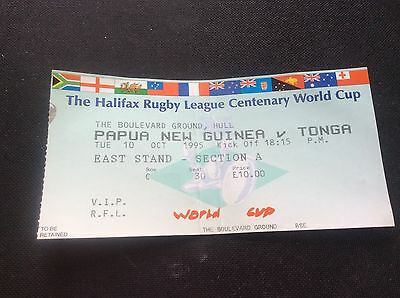 Papua New Guinea V Tonga 1995 Centenary World Cup Used Rugby League Ticket Hull