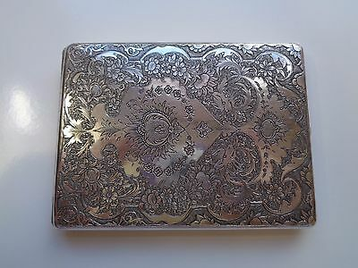 Solid Silver Islamic Persian Antique Cigarette Case Hand Made