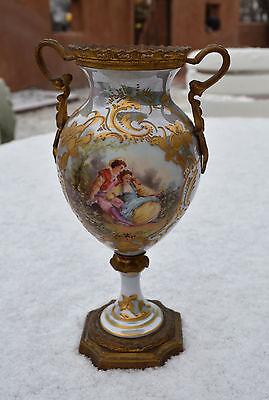 Beautiful and Unique Sevres Hand Painted Porcelain Urn/Vase