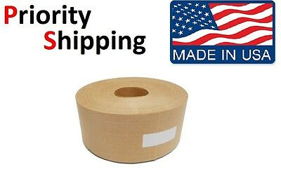 "Central 2-3/4"" x 500Ft Reinforced Gummed Kraft Paper Tape Water Activated 1-Roll"