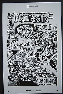 Large Production Art FANTASTIC FOUR #65 cover, JACK KIRBY art, 11x17