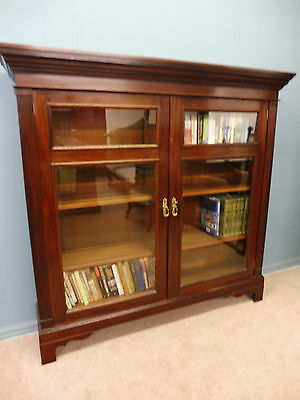 Antique Victorian Mahogany Bookcase Circa 1900