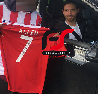 Joe Allen Signed Wales Football Euro 2016+Photo Proof*see Allen Sign This Shirt*