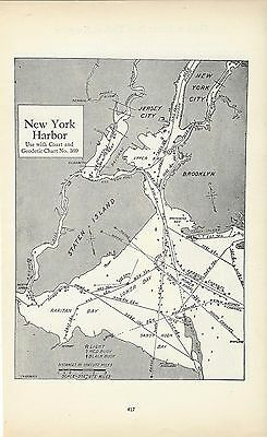 1930's Nautical Charts New York New Jersey Connecticut Long Island Hudson River
