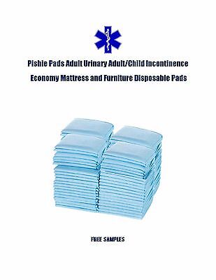 "200-23x24"" Pishie Adult/Child Disposable Urinary Incontinence Pee Pads"