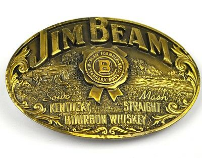 Jim Beam Metall Gürtelschnalle Kentucky Straight Bourbon Whiskey USA Belt Buckle
