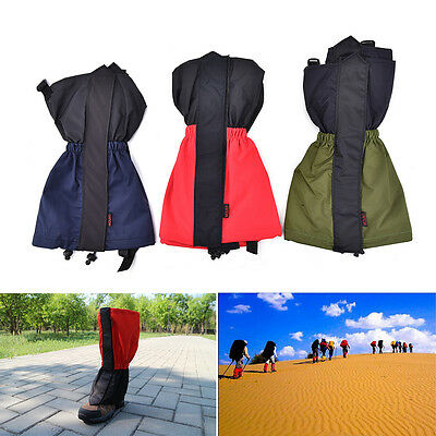 1 Pair Waterproof Outdoor Walking Hiking Climbing Hunting Snow Legging Gaiter ab