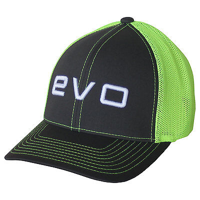 Evoshield Evo Flash Flexfit Trucker Hat - Charcoal/Neon Green - Small/Medium