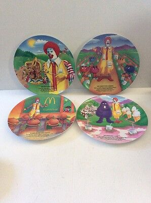 McDonald's Vintage  Collectible 1989 Plates Set of 4