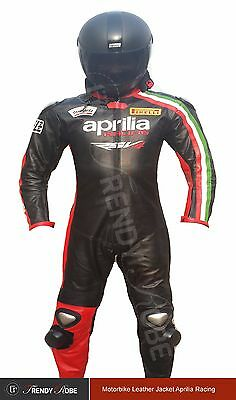 Aprilia RSV4 Motorbike Motorcycle Racing Leather Riding Suit.CE Protected
