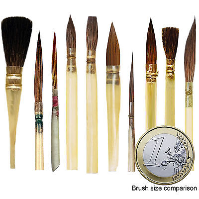 ARTIST QUILL BRUSHES - 10 PCS. ASSORTED - You Save 60 - 80%.