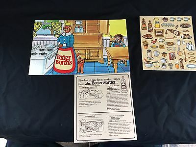 Vintage 1986 Mrs Butterworth's Promo Colorforms Stickers Unused Advertising