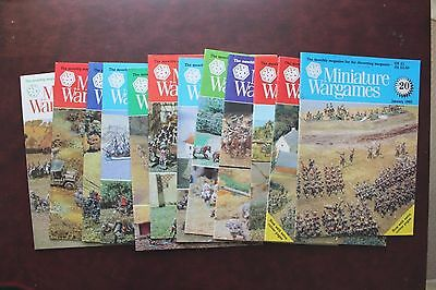 12 Issues Miniature Wargames Jan-Dec 1985 Complete Year Very Good Condition