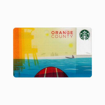 Lot of 5 Orange County (2013) California City Collectible Starbucks Gift Cards