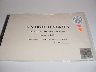 SS UNITED STATES LINES  1968 Logbook / Voyage #370  Eastbound & Westbound