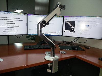 Humanscale M8  Adjustable Monitor (Single) Arm Aluminum Desktop Clamp