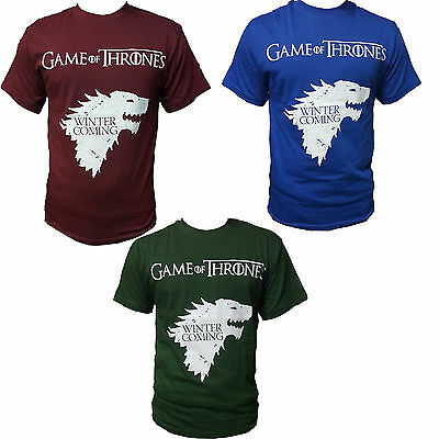 Game Of Thrones Direwolf Wolf Winter is Coming Stark Logo GOT New T-Shirt