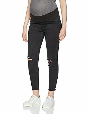 Tg 44| New Look Maternity Ripped Wash, Jeans Maternità Donna, Black, 44