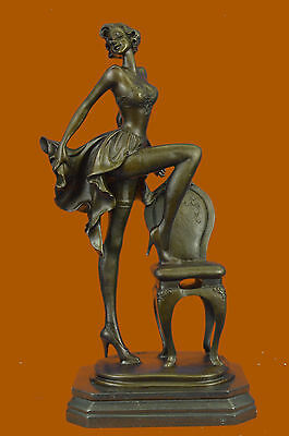 Bronze Sculpture Extra Large Semi Nude Girl Woman Lady Classic Artwork Vitaleh