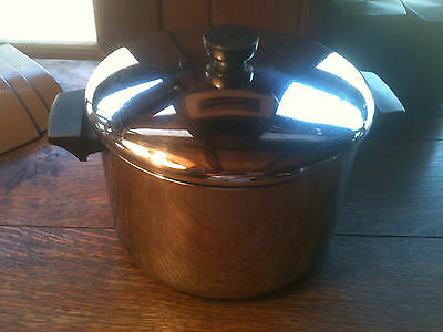 Vintage Revere Ware Soup Stock Pot 6 Qt.with lid all Stainless Steel Clinton IL